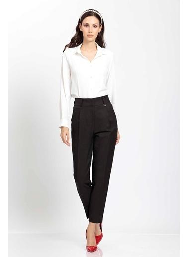 Vitrin Yüksek Bel Kumaş Pantolon Siyah
